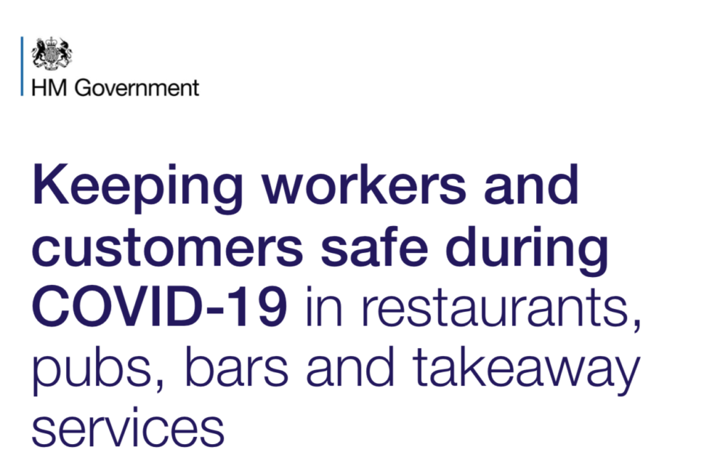 Latest government guidance on pubs opening
